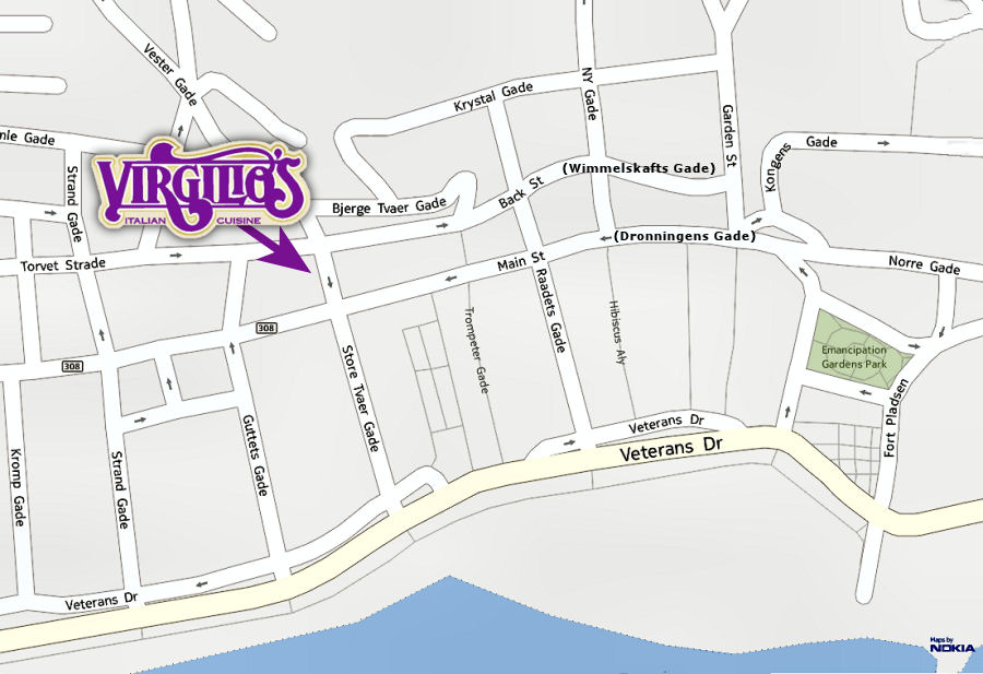 Location of Virgilios Restaurant